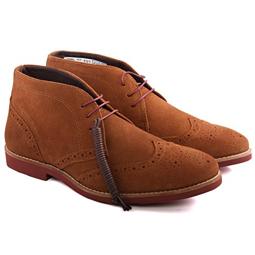 Unze Mens 'Foxhill' Suede Desert Boots UK Size 7-11 Abbronzatura