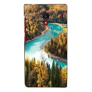 Bluethroat a Stream Flowing Through Pine Tree Forest Back Case Cover for Xiaomi Redmi 1S :: Xiaomi Hongmi 1S
