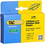 Tacwise 140/8mm Stainless Steel Staples (Box of 2000)