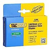 Tacwise 1216 2.000 Stück Typ 140/8mm Edelstahlklammern