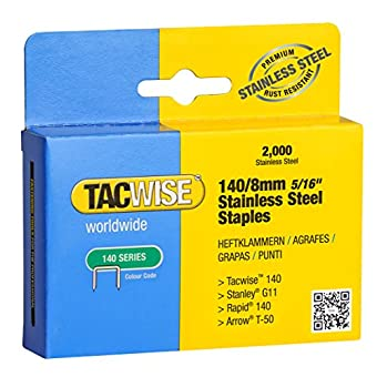 Tacwise 1216 Boîte de 2000 Agrafes en Acier Inoxydable 8 mm Type 140