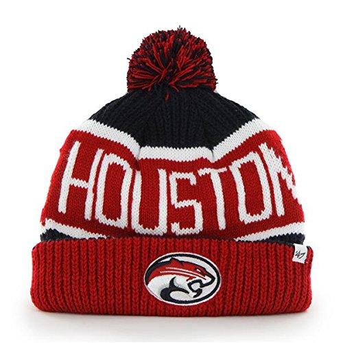 47Marke Calgary Cuff Beanie Hat mit Pom Pom-NCAA Cuffed Knit Cap, Unisex Damen Jungen Herren, Houston Cougars Houston Cougars Hat