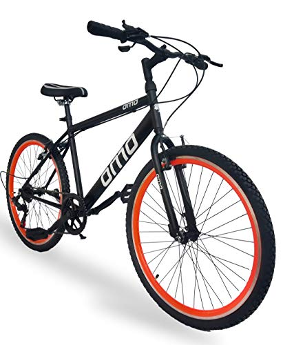 Omobikes Model 1.7 Light Speed 7 Speed Bicycle (Orange Rims)