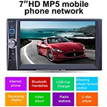 Tongshi 7 Doble 2 Din pantalla táctil en el tablero de coches Stereo Radio MP3 CD DVD FM Aux