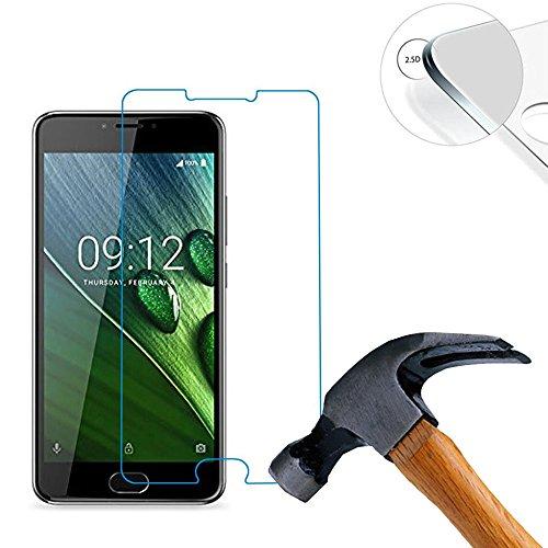 Lusee® 2 X Pack Panzerglasfolie Tempered Glass Hartglas Schutzfolie für Acer Liquid Z6 plus 5.5 Zoll (14.1 x 6.7 cm) Premium Screen Folie Protector Ultra Hart Bildschirmschutz 0,3mm 9H clear 2.5D