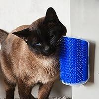 Cepillo para gatos, UPXIANG, masajeador de gatos, rascador para mascotas, para masajear el pelo, peine de baño, cerdas suaves y cómodas, pinceles de juego para arañar