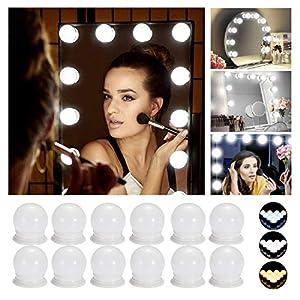 Hollywood LED Spiegelleuchte, Schminktisch Spiegel Licht Set mit 12 Dimmbar Glühbirne für Kosmetikspiegel ,Spiegel Nicht…