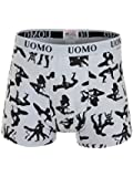 Mens Kama Sutra-Skull Crossbones-Union Jack-Eagle-Poker Cotton Animal Print Boxer Shorts Size M-XXL