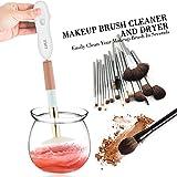 Limpiador automático del cepillo del maquillaje, SZCTKlink Rodillo de 360 grados que lava ...