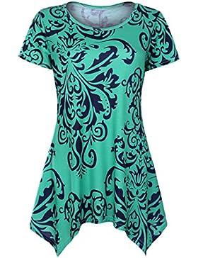 FAMILIZO Camisetas Mujer Manga Corta, Camisetas Mujer Tallas Grandes Camisetas Mujer Verano Blusa Mujer Sport...