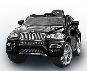 riricar bmw x6 schwarz lackiert luxury weiche eva r der original linzensiert kinderfahrzeug. Black Bedroom Furniture Sets. Home Design Ideas