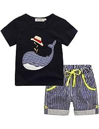 DRESS_start 2018 Ropa para Niño - Conjunto Dibujos Animados para Niños -Conjunto De Camiseta Y
