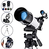 MAXLAPTER Telescopes for Astronomy, Ultra Clear HD High Magnification, 400/70mm, for Adults or