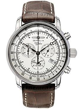 Zeppelin Herrenarmbanduhr Special Edition 100 Jahre Zeppelin Chronograph Alarm 12-Stunden-Stoppfunktion Quarz...