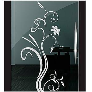 DD Dotzler Design 2111-9 Milchglasfolie Fenster Folie Milchglas Motiv Blume Floral Blumen Glas Aufkleber Fensterfolie