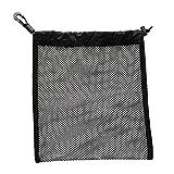 Unbekannt Sharplace Schwarz Ballsack mit Kordelzug für Golfbälle Tischtennisbälle, 20 x 24 cm