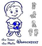 generisch Baby Kinder Aufkleber Kinder Autoaufkleber mit Wunschtext viele Motive zur Auswahl 1/4 (Mehrfarbig)