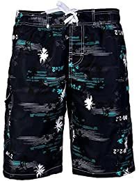 APTRO® Herren Slim Fit Freizeit Shorts Casual Mode Urlaub Strand-Shorts Sommer Kokosnuss Palmen