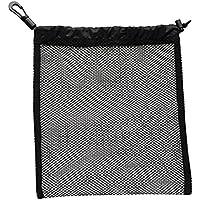 Baoblaze 1 Pedazo de Ligera Bolsa Deportiva para Alrededor de 30 Pelotas de Ping Pong y Golf Fácil de Llevar y Conveniente de Usar - Negro