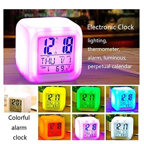 Kbsin212 Reloj Despertador Digital Pantalla Blanca