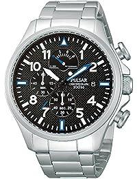 Pulsar Uhren Herren-Armbanduhr XL Sport Chronograph Quarz Edelstahl PS6049X1
