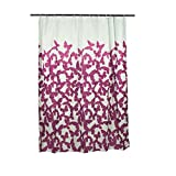 Smartfox Duschvorhang Schmetterlingsschwarm in violett, 120x200 cm, 12 Ösen inkl. 12 Kunststoffringen