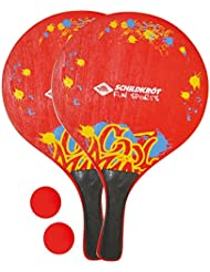 Schildkröt Funsports 970152, Set da Spiaggia, 2 Racchette di Legno Unisex Bambini, Multicolore, XL