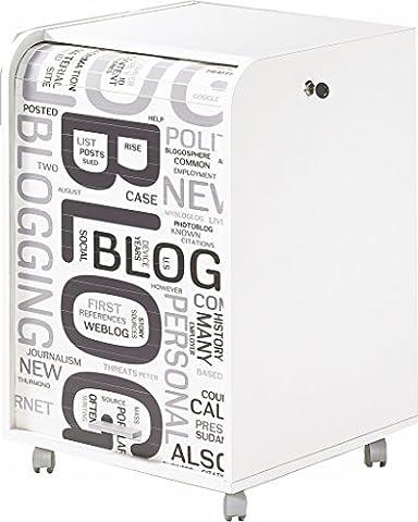 Simmob ORGA070BLB301 Blog 301 Caisson de Bureau avec 2 Tiroirs