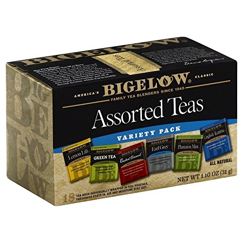 Bigelow, Six Assorted Teas, Variety Pack, 18 Tea Bags, 1.10 oz (31 g)