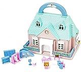 Puppen-Haus Spiel-Haus Aufklappbar Mini-Puppen-Haus Mädchen-Schule Puppe Kinder Kinder-Spielzeug Mädchen-Haus 17 cm