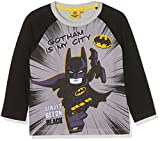Lego Batman Jungen T-Shirt 161392, Blanc (White/Black/High Rise 16-4101TCX/Danelion 13-0758TCX), 8 Jahre (Hersteller Größe: 8 Jahres)