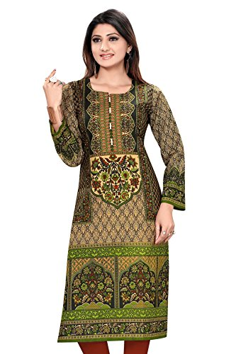ALC-Creation-Georgette-Womens-Kurti-AL0376-XLCreamX-Large