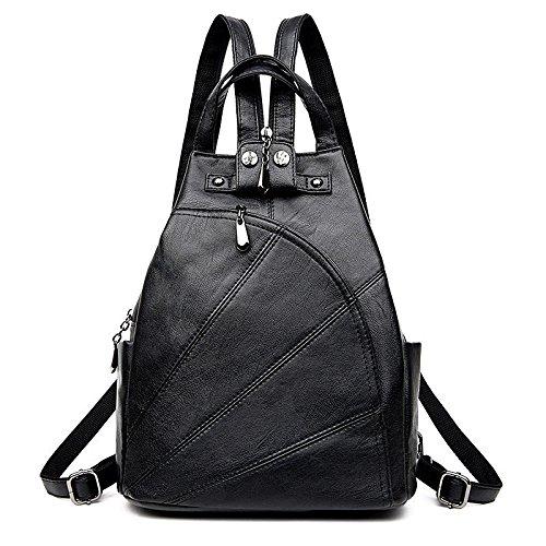 BOAOGOS Daypacks Occasionnels Femmes Sac à dos de luxe en cuir véritable haute qualité Mode pour Femme Sac à dos Sac à dos Sacs de voyage noir