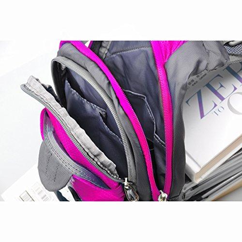 Schleuder Tasche Chest Pack,Multiple Storage Zweck Umhängetasche Tragen Styles,für Outdoor Sportarten Reisen nylon fabric multied-colored, by LC Prime Purplish-Red