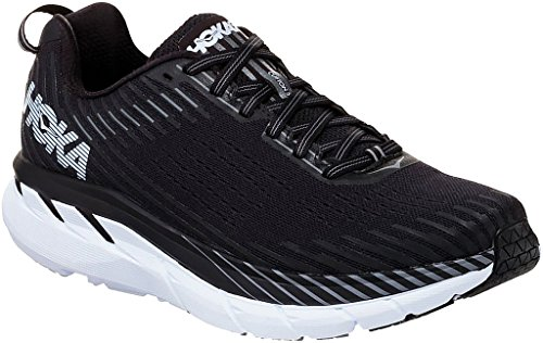 Hoka CLIFTON 5, Scarpe running uomo, Black/White, 46 2/3 EU