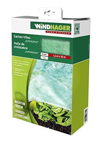 Windhager Non-tissé pour jardin jardin non-tissé de Super Grow 1,5 m x 10 m