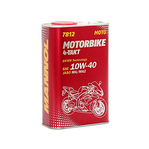 MANNOL 1 x 4L 7812 Motorbike 4-Takt 10W-40 API SL/JASO MA/MA2 Motoroel Motorraedern Sportbikes