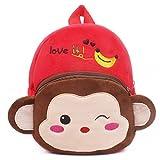 Senmi Children's Cartoon Animal Backpack Baby Toddler Kid's Schoolbag Kindergarten Bag Monkey