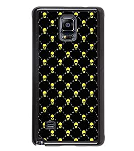 Fuson Premium 2D Back Case Cover Skull pattern With Multi Background Degined For Samsung Galaxy Note 4 N910::Samsung Galaxy Note 4 Duos N9100