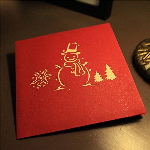 Amphia - Karten der frohen Weihnachten 3D, die Liebhaber Alles Gute zum Geburtstag-Jahrestags-Gruß-Karten Wedding sind,3D Weihnachtskarte