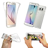 MNM DISTRIB COQUE SILICONE GEL TPU INTEGRAL TRANSPARENT POUR SAMSUNG GALAXY S6 EDGE