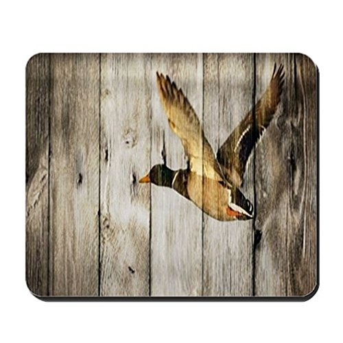 CafePress-Barnwood Wild Duck-rutschfeste Gummi Mauspad, Gaming Maus Pad -