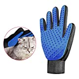 Pet Grooming Glove,Gentle Pet Hair Remover,True Touch Deshedding Relaxing Massage Glove, Dog/Cat/Rabbit/Horse - Massage Tool ,with Enhanced Five Finger Design for with Long & Short Fur (Right)