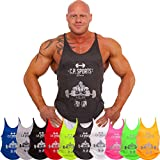Stringer Tank Top S6-2 rot Gr. XL – mit Bodybuilder , Muskelshirt , Trägershirt C.P. Sports