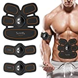 SUNMAY Muscle Toner Abs Trainer with Supporting Belts, Abdominal Toning Belt EMS Muscle Stimulator, Body Fitness Training Machine Home Gym Training Gear For Men Women
