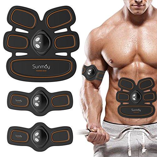 SUNMAY Elektrischer Muskelstimulation, EMS-Training Muskelaufbau und Fettverbrennungn Massage-gerät Home Fitness Machine Elektrostimulation für Mann Damen Geschenk