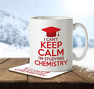 I Can't Keep Calm I'm Studying Chemistry - Mug and Coaster by Inky Penguin from The Inky Penguin