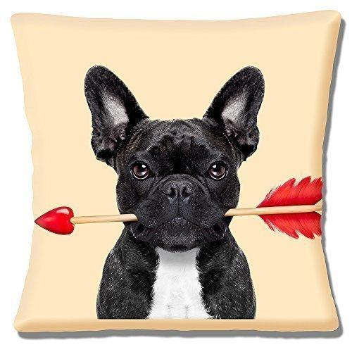 French bulldog & bianco nero con freccia di cupido san valentino love-40,64 cm (16