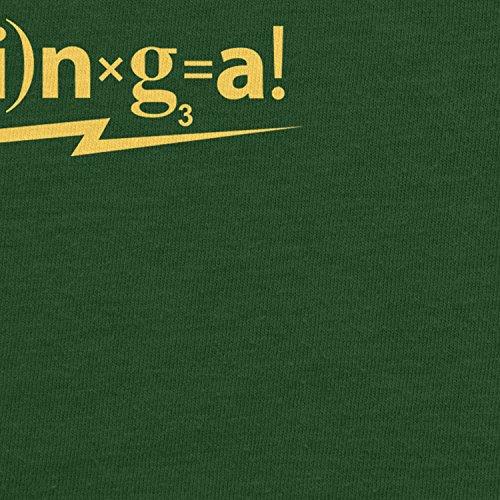 Planet Nerd Matheformel ß+a(z-i) NXG=a - Herren T-Shirt Flaschengrün