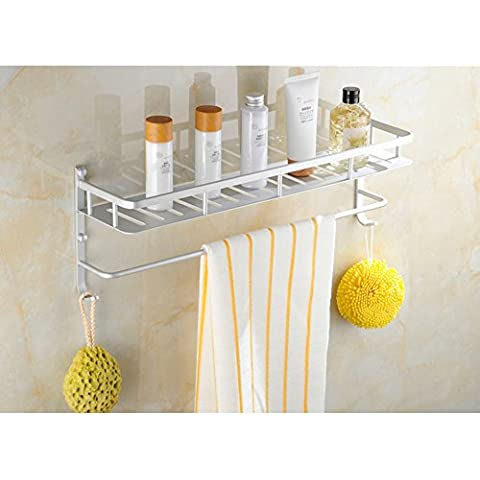 Spazio alluminio bagno rack/Asciugamano/Vanità bagno mensola/ a parete